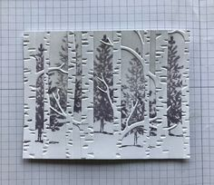 Ramblin' Stamper: Embossing Folder Technique - Quick & Easy Christmas Card!