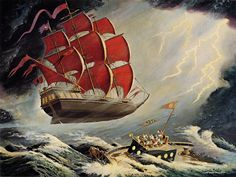 The Flying Dutchman | oil painting by Carl Barks