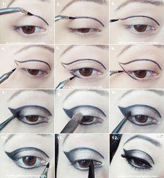 Indian Vanity Case: Tutorial: Winged Cut Crease Eye Makeup