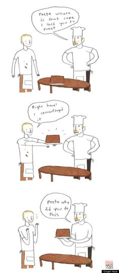haha, link to a funny comic strip parody of The Hunger Games, this is just one of them.