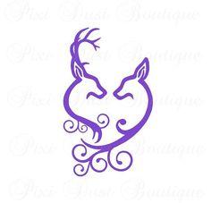Love Deer Decal, Buck And Doe Heart, Deer Decal, Hunting Decal, Deer Car Decal, Hunting Car Decal , Deer Hunting, Deer Sticker