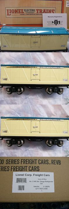 Other Standard Scale 180338: Lionel Corporation Item 11-30076 Ivory And Blue 514R Refrigerator Car Mth * New -> BUY IT NOW ONLY: $149.99 on eBay!