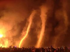 *Burning Man Festival in Nevada* What the heck is a fire tornado? - Capital Weather Gang - The Washington Post Tornados, Natural Phenomena, Natural Disasters, Fire Tornado, Beautiful Disaster, New Zealand Travel, The Washington Post, Burning Man