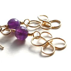 http://MagpiesTrick.etsy.com Lovely Amethyst  and 14K gold.