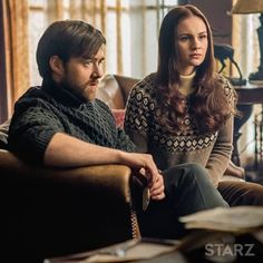 Roger and Bree, listening to Claire explain Bree's real father