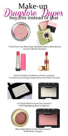 Care Drugstore Steals and Makeup Holy Grail Dupes The best drugstore dupes for makeup. I love using Milani instead of NARS orgasm.The best drugstore dupes for makeup. I love using Milani instead of NARS orgasm. Best Drugstore Dupes, Drugstore Makeup Dupes, Beauty Dupes, Makeup Cosmetics, Elf Dupes, Eyeshadow Dupes, Skincare Dupes, Lipstick Dupes, Beauty Hacks