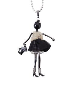 Spencer and Rutherford - Accessories - Long Pendant Necklace - Portia Doll - Purrfect Kitty