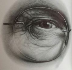 Sketching eyes with glasses; tips from Lee Hammond at ArtistsNetwork.com. #drawing #art #faces