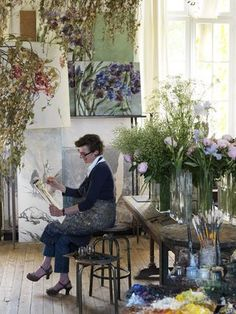 Studio (Old School ~ New Life: Claire Basler's Atelier & Home in France)