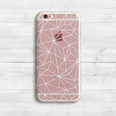 Geometric White Lines Case iPhone SE iPhone 7 7 by casesfactory