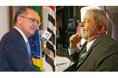 Geraldo Alckmin e Lula Lula oferece jantar a donos de empresas investigados na Zelotes e Lava Jato  Este título é uma mentira. Quem fez isso foi outro pré-candidato a presidente, o tucano Geraldo Alckmin. A troca de nomes faz diferença?