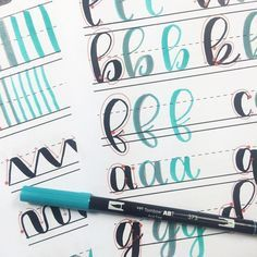 Everything you need to get started lettering: a comprehensive guide Hand Lettering Tutorial, Hand Lettering Fonts, Doodle Lettering, Creative Lettering, Lettering Styles, Lettering Guide, Lettering Ideas, Calligraphy Letters, Typography Letters