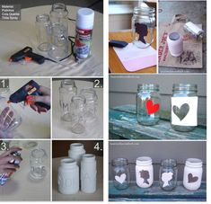 1 million+ Stunning Free Images to Use Anywhere Rose Crafts, Diy Home Crafts, Craft Stick Crafts, Mason Jar Crafts, Mason Jar Diy, Design Crafts, Diy Design, Glass Jars, Candle Jars