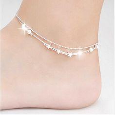 Little Star Women Chain Ankle Bracelet Foot Jewelry for women lady's Barefoot Sandal Beach