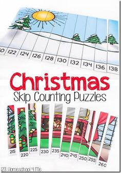 Help kids practice skip counting higher numbers in grade, Skip Counting Activities, Counting Puzzles, Math Games For Kids, Maths Puzzles, Learning Activities, Teaching Math, Number Activities, Space Activities, Kindergarten Activities