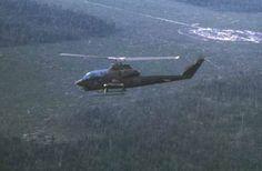 Vietnam War 1st CAV Cobra Gunship Over LZ Jamie Near Cambodia