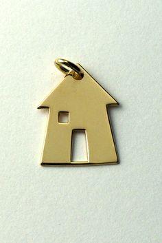 Pendente casa, in oro giallo.