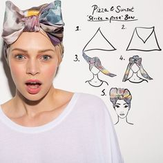 strike a pose bow :: headWrap/ turban                                           ...