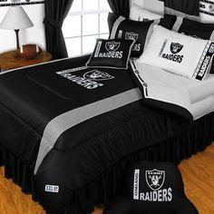 NFL OAKLAND RAIDERS Football Twin Bedding COMFORTER SET