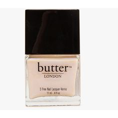 Butter London Hen Party ($13) ❤ liked on Polyvore featuring beauty products, nail care, nail polish, beauty, makeup, nails, fillers, beige, butter london nail polish and butter london nail lacquer