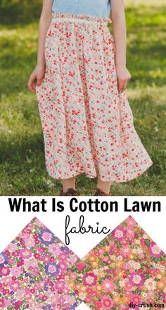 What is cotton lawn fabric and what can you sew with it? Important facts and tips for sewing with cotton lawn.