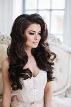 Top 20 Down Wedding Hairstyles for Long Hair | http://www.shopprice.com.au/hair+style