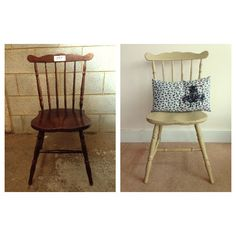 Before and After Farmhouse Chair Everything Has A Story - Vintage & Upcycled