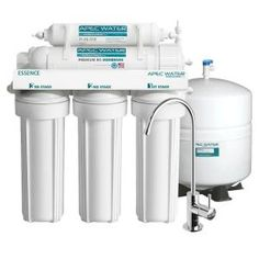 APEC Water Systems Essence Premium Quality Under-Sink Reverse Osmosis Drinking Water Filter System. Perfect for a tiny house! It consistently filters your water that you use. Never have to waste grey water again! Will purify and reuse. Sink Water Filter, Best Water Filter, Drinking Water Filter, Water Filters, Best Reverse Osmosis System, Reverse Osmosis Water Filter, Water Filtration System, Water Systems, Water Purification