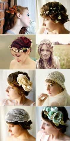 @Emily Schoenfeld Zych Bridal Hairpieces #Etsy #Whichgoose