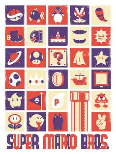 Super Mario, Nintendo, Video Game, Poster, Art Print, Poster