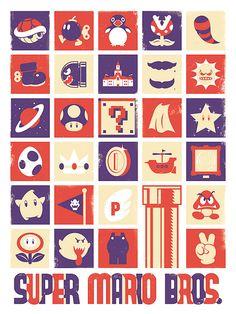Super Mario, Nintendo, Video Game, Poster, Art Print, 18x24