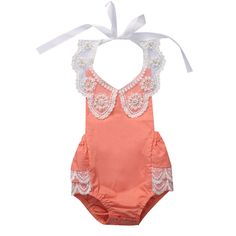 Newborn Baby Girl Clothing Tops Floral Bodysuit Backless Halter Sleeveless Jumpsuit Clothes Outfits Sunsuit Baby Girls #Affiliate