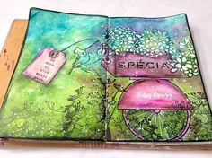 Bicycle Flower Cart Art Journal – Mixed Media Art Tutorials