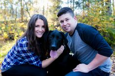 Engagement photo shoot + the pooch <3 couldn't leave our puppy at home! Melissa Michelle Photography, Edmonton AB