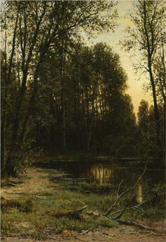 River backwater in the forest - Ivan Shishkin