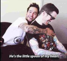 Pete and Andy.Are little spoon friends forever.They're are so adorable!!!!!