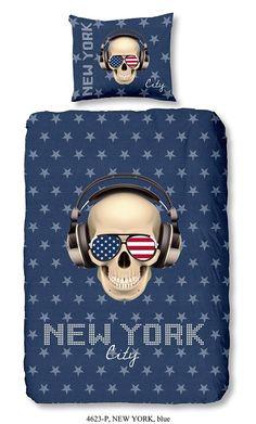 Kinderdekbedovertrek - New York Blue - Goodmorning