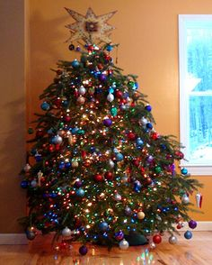 Christmas Tree ...quite lovely in it's own crooked way