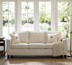 cameron square arm upholstered sofa pottery barn Couches Pottery Barn