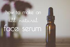 diy all natural acne fighting face serum: grape seed oil + jojoba oil + tea tree oil + lemongrass oil + lavender oil.