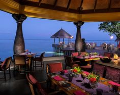 Baraabaru, meaning 'excellent' in the local language, Dhivehi, is a must-try restaurant in the Maldives...serves authentic Indian cuisine overlooking the Indian Ocean.