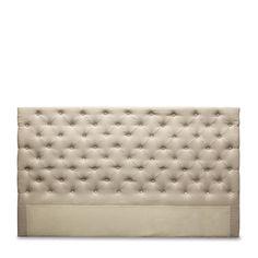 Buttoned Linen Bedhead   Citta Design