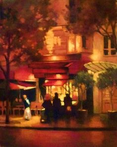 Crepes at Midnightsmall by Teresa Saia Pastel ~  x