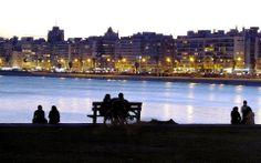 Rambla de Pocitos, Montevideo. Uruguay