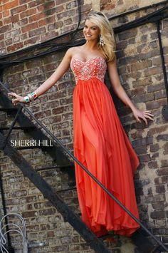eec40cd9bfcb hot orange prom dress Pretty Dresses, Sherri Hill Prom Dresses, Grad Dresses,  Bridesmaid
