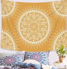 Sunshine Mandala Tapestry