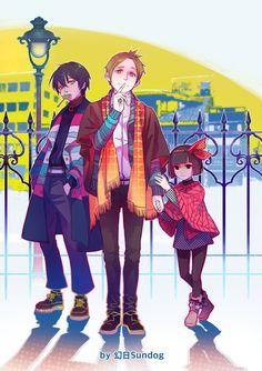 Noragami- Fujisaki Kouto, Nora, and Yaton #Anime