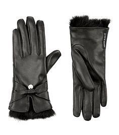 Rabbit Fur Trim Gloves <3