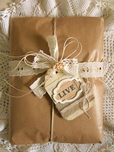 ♫brown paper package tied up with string♫♫ - who wouldn't want a present wrapped like this!