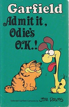 """Garfield, Admit it, Odie's O. Garfield Cartoon, How To Match Foundation, Jim Davis, Pocket Books, Reading, Disney Characters, Reading Books"